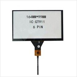 7 polegada de navegação do carro DVD tela de toque capacitiva 164*99 165*100 linha touch screen GT911 6 6 linha P