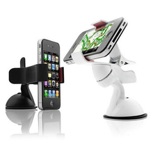 Car DVR Suporte Rotated 360 Degrees Car Mobile Phone Rack Suction Cup Camera Phone Holder Sucker GPS Navigator Mobile Phone Stan