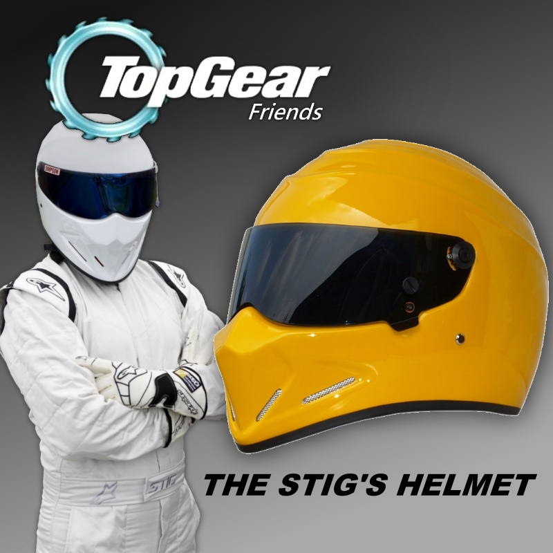 Special Birthday Present For Men Women Son - For Top Gear The STIG Helmet with Black Visor / SIMPSON Pig / Motorcycle Helmet for top gear the stig helmet with silver visor tg collectable like simpson pig yellow motorcycle helmet you re the stig