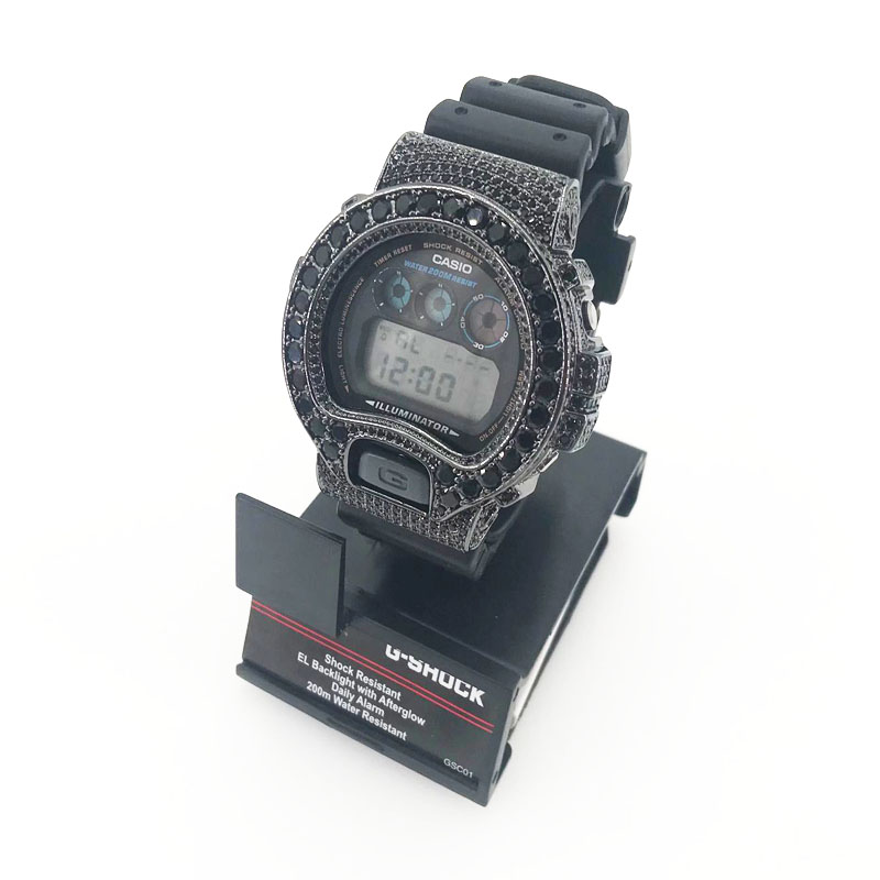 8cbcd5bf5299 Free Shipping Black Cz Diamond Iced Out Diamond G Shock DW6900 watch  bezel-in Jewelry Findings & Components from Jewelry & Accessories on  Aliexpress.com ...