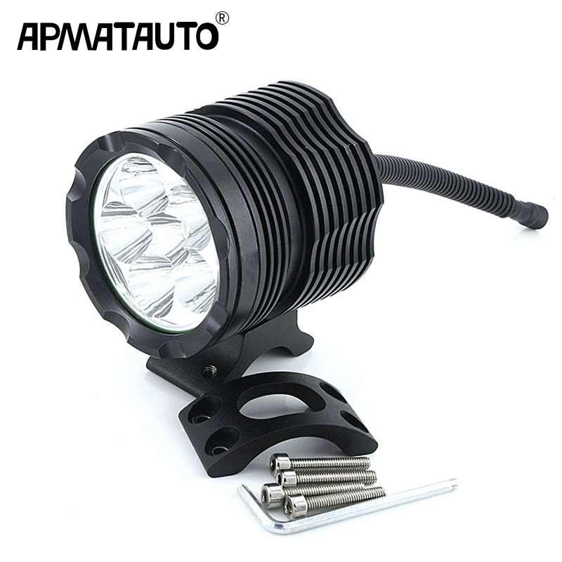 1X White 6000K 8000LM Super Bright 6SMD T6 Chips LED Motorcycle Headlight Fog Spot HeadLamp Spotlight Waterproof Motorbike Bulb