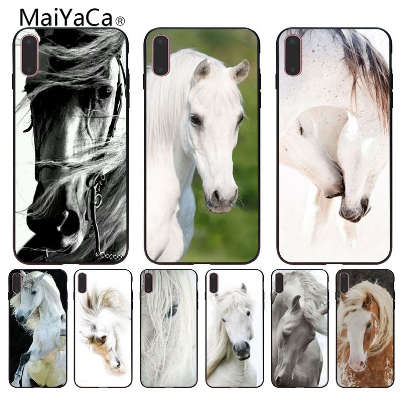 Us 0 77 29 Off Maiyaca Hot Horse Wallpaper Colorful Cute For Iphone 8 X Xs Xr Case For Iphone 8 8plus And 7 7plus 6s 6splus 5s Cell Phones In