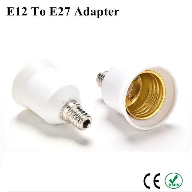 5X E12 к E27 конвертер держатель лампы адаптер E26 база светильник E12 к E27 Стандартный винт в патрон лампы Высокое качество разъем