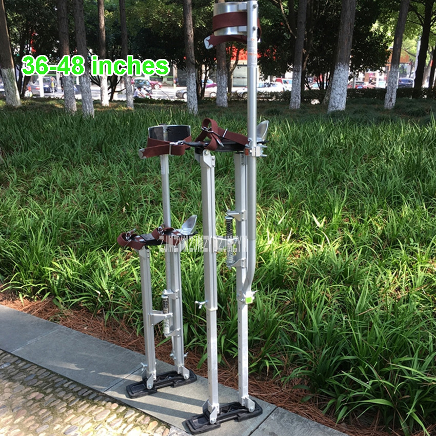 """New Professional Aluminum Alloy 48-inch Stilts Home Painting Construction Tripods Increased Machine Shoes 36""""-48"""" Adjustable"""