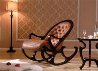 Ретро и элегантный твердой древесины кресло качалка кресло подходит для гостиной хорошее качество стулья античной деревянной мебели