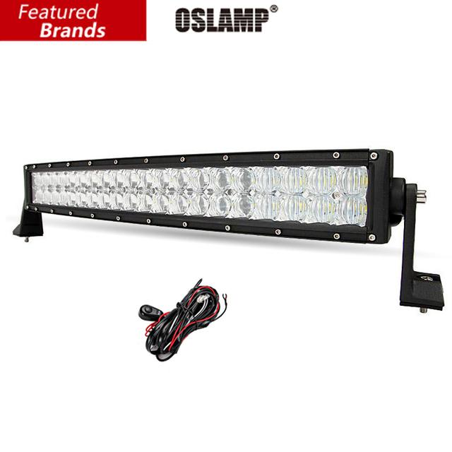 """Oslamp 22 """"200 W CREE Fichas 5D LEVOU Combinação Levou Trabalho Barra de Luz Curvo Barra de luz Offroad 12 v 24 v Caminhão SUV 4WD ATV 4x4 Driving lâmpada"""