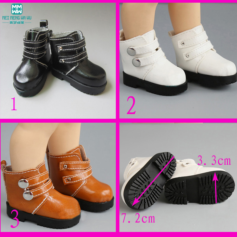 1pcs 7.2cm Mini Little Boots Shoes For Dolls 16 Inch Sharon Doll Accessories