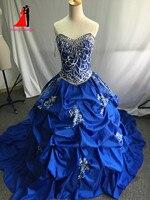 New cheap royal blue embroidery quinceanera dresses 2017 masquerade ball gowns ruffles sweet 16 dress vestidos.jpg 200x200