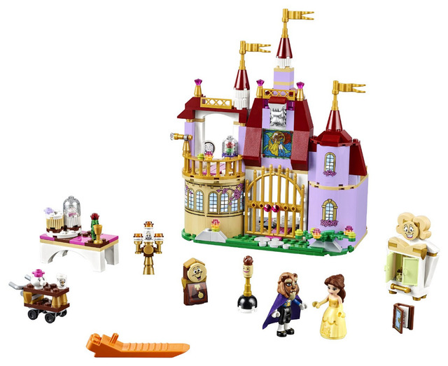 37001 Beauty and The Beast Princess Belle's Enchanted Castle Building Blocks Girl Kids Toys Compatible with blocks princess gift