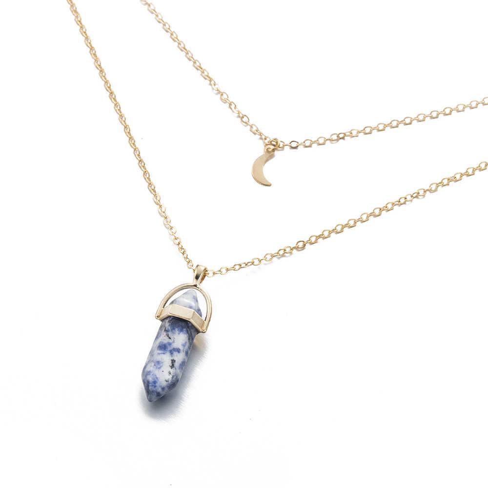 Большое ожерелье Луна подвеска-шестиугольник ожерелье женские подарки горячая новинка оптовая продажа