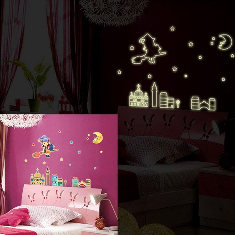 Glow in the Dark Speelgoed Lichtgevende Ster Stickers Slaapkamer Sofa Fluorescerende Schilderen Speelgoed PVC Stickers voor Kinderkamer 12 pcs per set