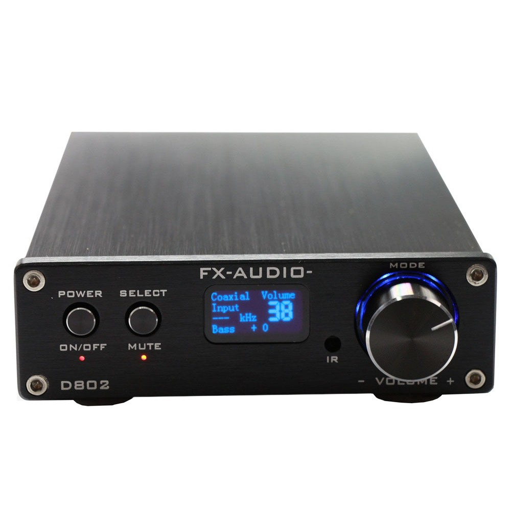 FX Audio D802 80W*2 192KHz Coaxial/Optical/USB Class D Digital Power Amplifier+Remote Control alientek d8 class d xmos 80w 2 mini hifi stereo audio digital amplifier coaxial optical usb amplifier power supply