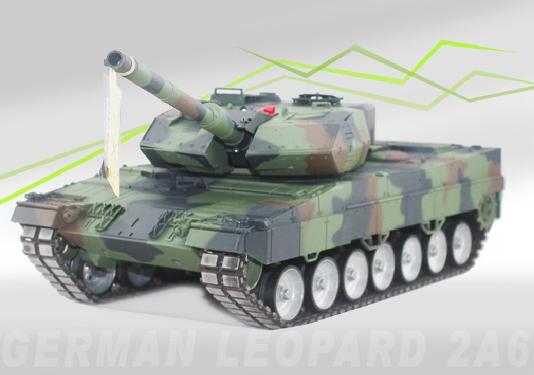 RC Tank Germany Leopard 2 A6 Tank 1 16 Scales 2 4G Remote Control Simulation