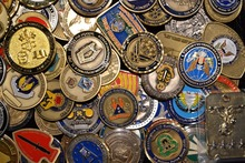 Sample Order,American Military Challenge Coin, Gods Armor, Air Force, Navy, Core Value Coin
