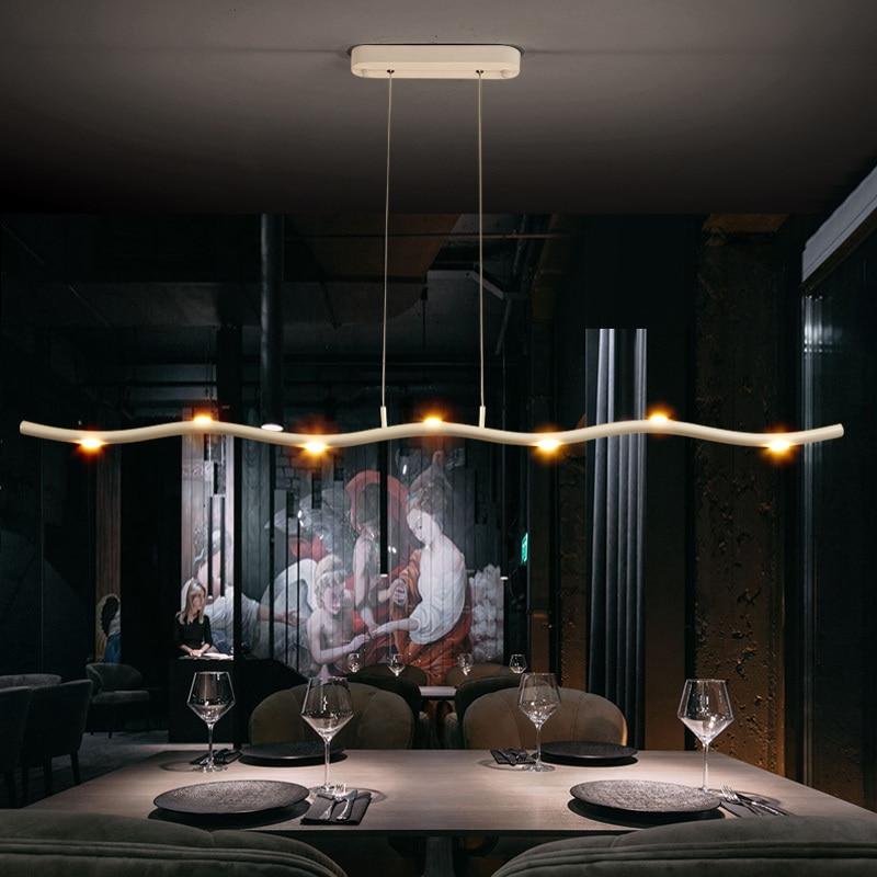Image 5 - Minimalism Modern Led Pendant Lights For Dining room hanging lights suspension nordic lamp luminaire Pendant Lamp light fixtures-in Pendant Lights from Lights & Lighting