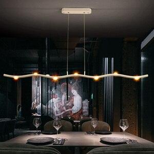 Image 5 - Plafonnier suspendu nordique moderne pendentif Led, design minimaliste, luminaire dintérieur, idéal pour une salle à manger