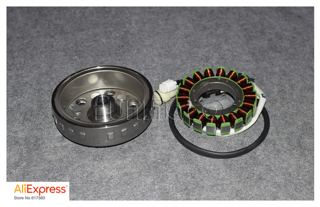 US $92 0 |Magnetic motor stator and rotor of HISUN500/HS500 700/HS 800  ENGINE carburetor model-in Motorbike Ingition from Automobiles &  Motorcycles on