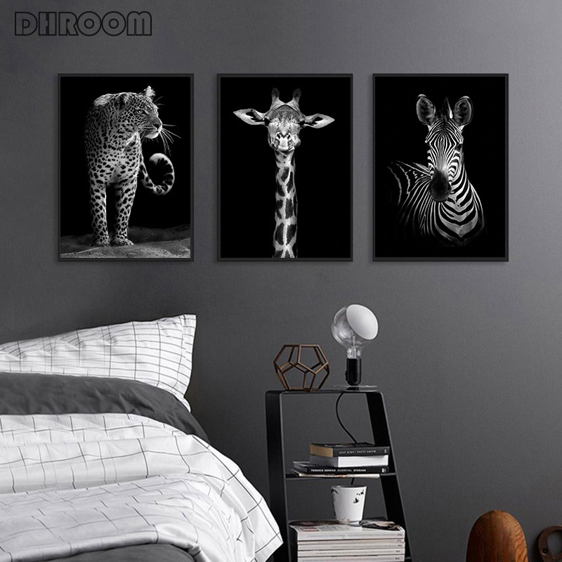 HTB1jb8KXL1H3KVjSZFBq6zSMXXaT Canvas Painting Animal Wall Art Lion Elephant Deer Zebra Posters and Prints Wall Pictures for Living Room Decoration Home Decor