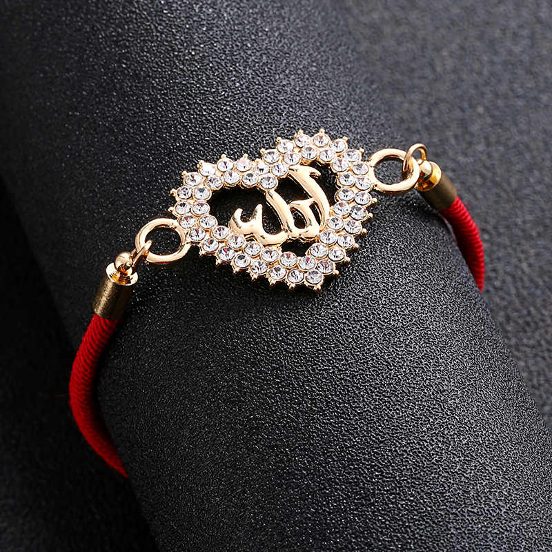 Sevimli Allah müslüman dini kalp ay bilezik kadınlar için Eid al-fitr mücevherleri Fatima göz Evil ruhu hediye toptan