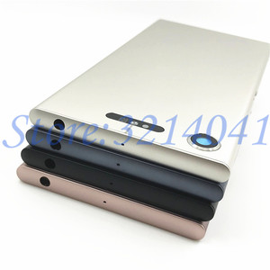 Image 3 - New Metal Battery Housing Door For Sony Xperia XZ1 G8341 G8342 Back Cover Case Battery Door Back Cover Housing Frame With Logo