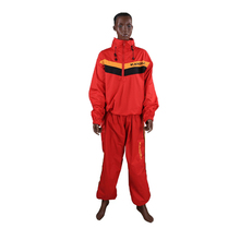 Waterproof airproof Red Sweat coat sauna suit male female running sport fitness uniform lose weight reduce