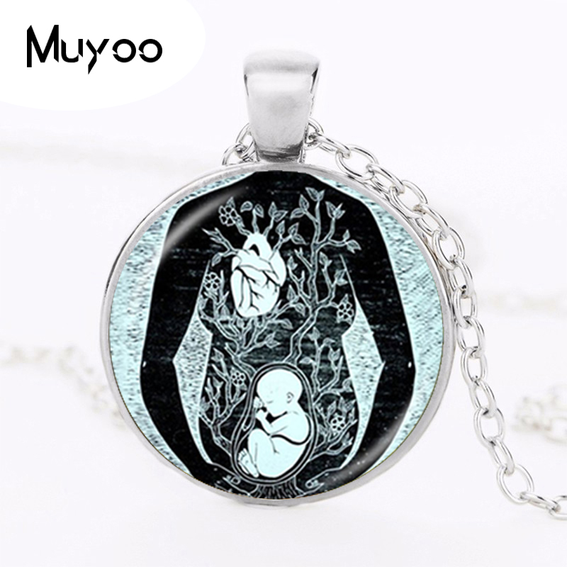 Fetus Necklace Leonardo Drawing Pendant Artist Doctor Midwife Pregnant Mom Baby Pendant Birthing Gifts Women Jewelry HZ1