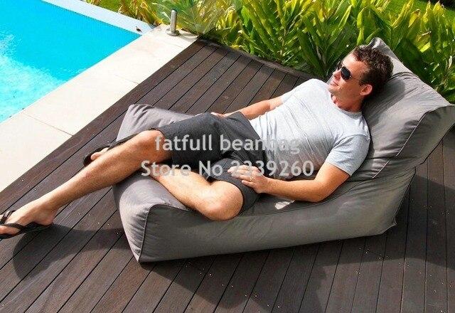 COBRIR APENAS, nenhum enchimento-sala de estar cadeira do saco de feijão jogo, rede jardim ao ar livre sofá mobiliário camas-Cinza pufes almofada