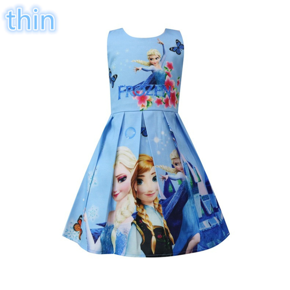 2018 New Summer My Little Elsa Queen Baby Girls Dress Vestidos Dress Princess Costume for Kids Clothes Children Party Dresses girls summer dress printed princess dress children costume for kids clothes baby dress