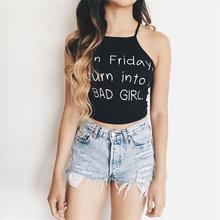 2017 New Women's Summer Sexy Blusas Women Backless Sleeveless Printed Tops Vest Halter Tank Tops Blouse Shirt cropped feminino
