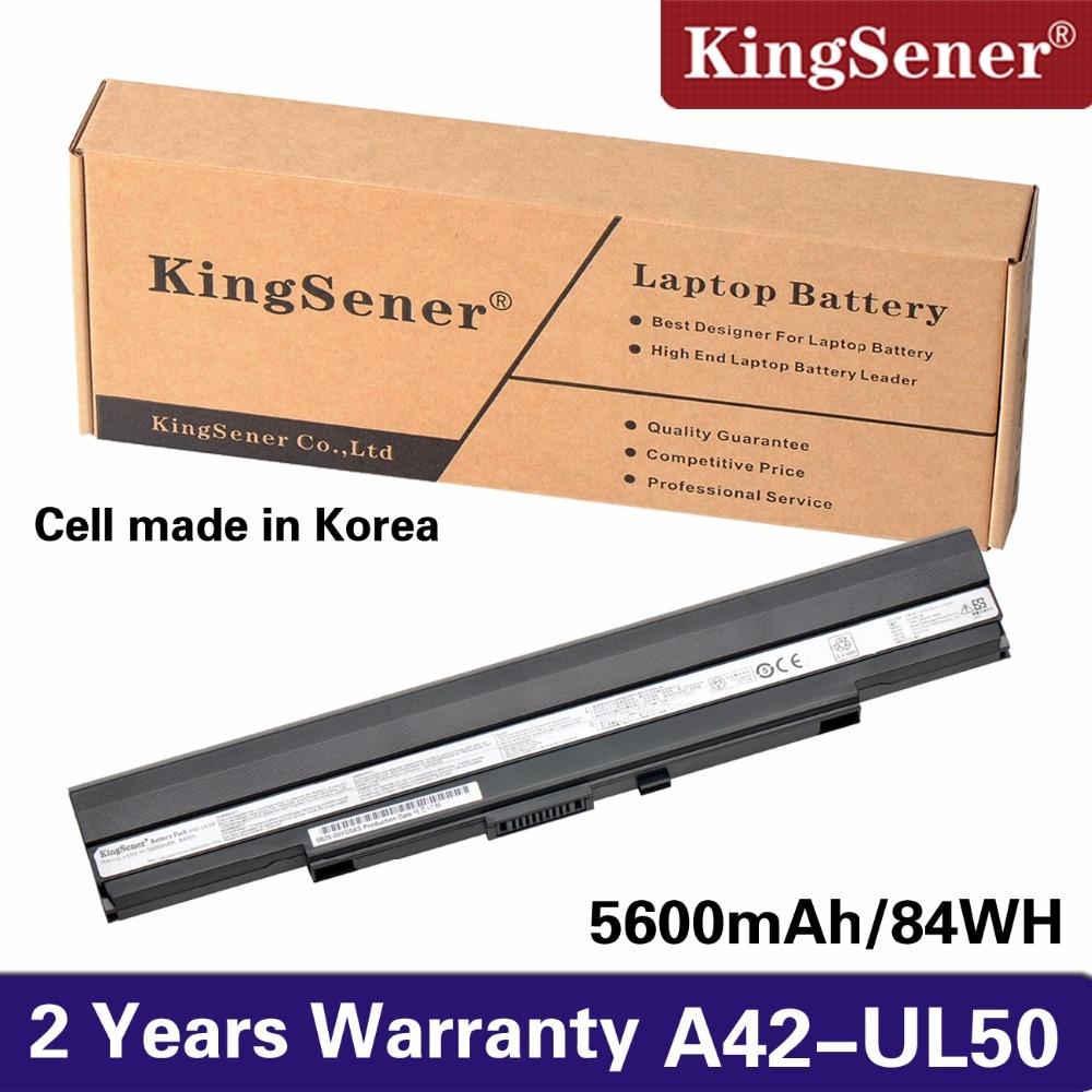 KingSener 15 v 84WH A42-UL50 batterie D'ordinateur Portable pour ASUS UL30 UL30A U30JC UL50 UL80 U30 U35 U45 UL30A UL80A Série a41-UL80 A42-UL30