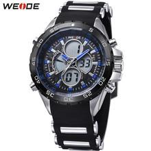 Original Casual WEIDE Military Sport Watch Men Digital Quartz LED Alarm Silicone Band Blue Case Waterproof Wristwatches Relogios стоимость