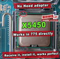 Intel xeon x5450 3.0 ghz/12 m/1333 mhz/cpu igual a lga775 core 2 quad q9650 cpu, funciona em lga775 mainboard não precisa de adaptador