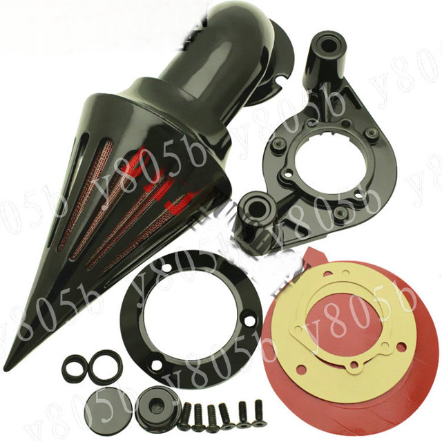 US $105 66 |Motorcycle Black Spike Intake Air Cleaner Kits For Harley  Davidson SPORTSTER XL883/1200 X48 MT 228-in Air Filters & Systems from