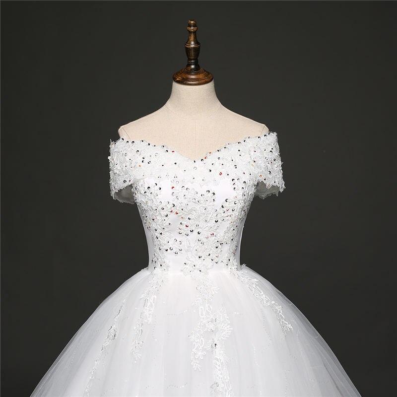 Es ist YiiYa Off White Ärmel Boot ausschnitt Beliebte Brautkleider ...