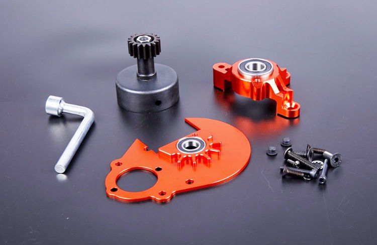 CNC HD Clutch Bell Mount Plate Reinforced Power Take-off Kits for 1/5 HPI KM ROVAN BAJA 5B 5T 5SC Rc Car Gas Parts free shipping clutch bell holder spacer for 1 5 hpi baja 5b parts ts h65047 wholesale and retail