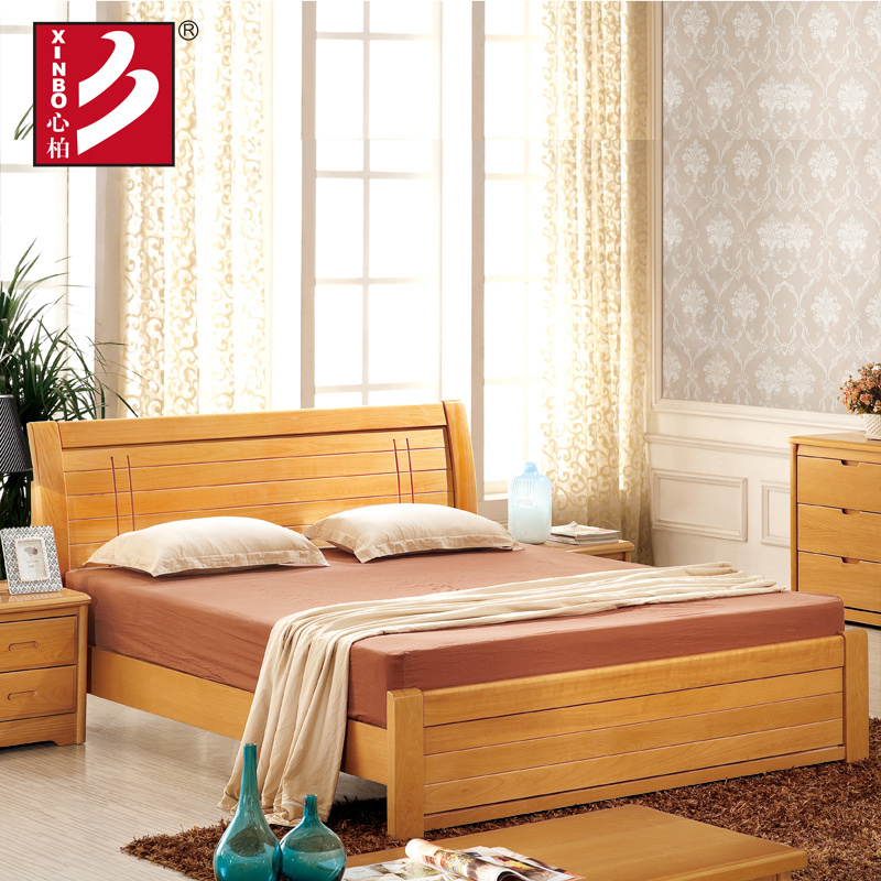 Wooden Home Furniture,beech Wood Bed,bedroom Sets,double