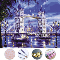London Bridge Diy Oil Painting Frameless Picture On Wall Acrylic Painting By Numbers On The Canvas