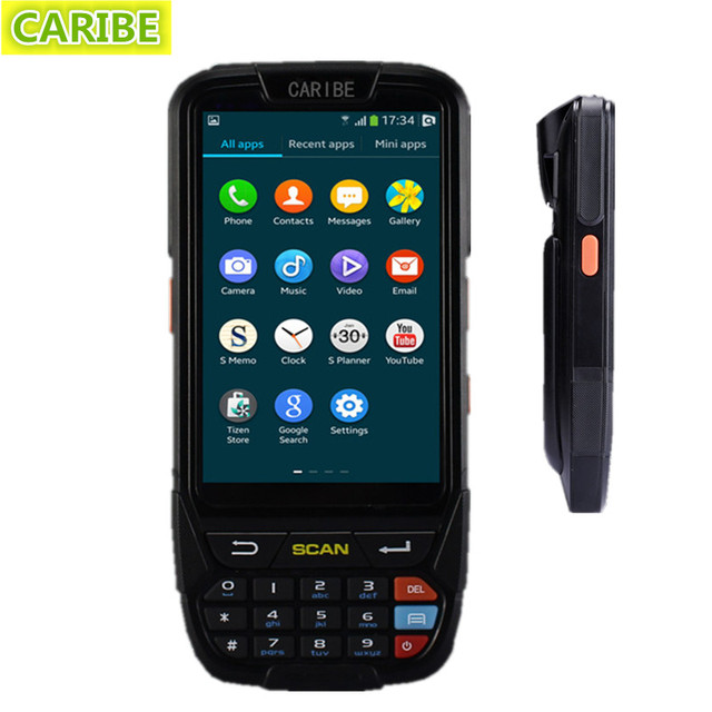 Caribe PL-40L android 5.1 Programmable industrial pda handheld computer with 4G,wifi and 1d barcode scanner