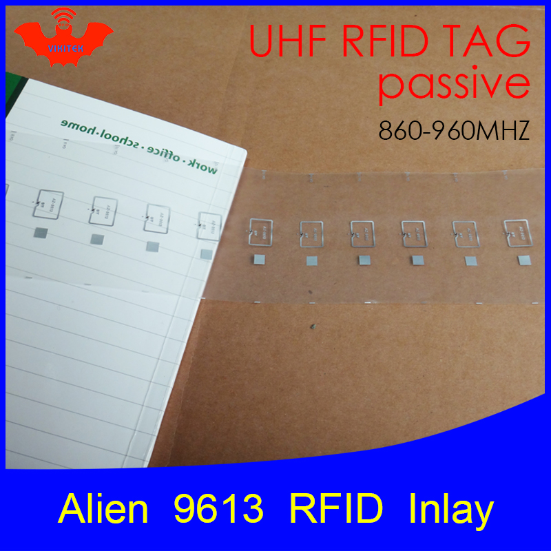 UHF RFID Tag Alien 9613 Inlay 915mhz 900mhz 868mhz 860-960MHZ Higgs3 EPC Gen2 ISO18000-6c Smart Card Passive RFID Tags Label