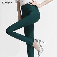 fc79f04beaba6 Automne Plus La Taille 3XL Slim Taille Haute Pantalon Femme Nouvelle Mode  2018 Printemps OL Pantalon