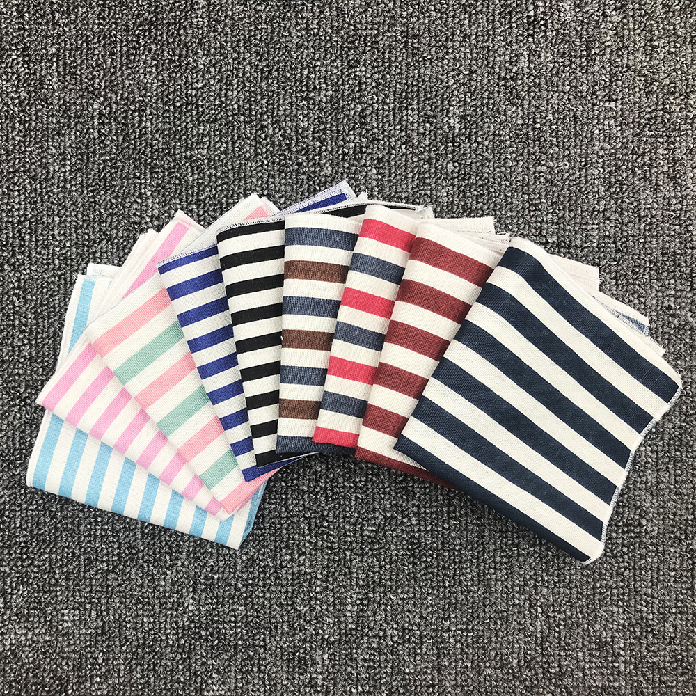High Quality Cotton Linen Mens Pocket Squares 24*24cm