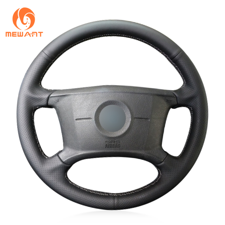 MEWANT Genuine leather Black Suede Car Steering Wheel Cover for BMW E46 318i 325i E39 E53 X5