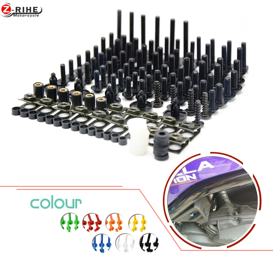 Motorcycle accessories Fairing Bolt Screw Fastener Fixation cnc aluminum Universal For Ducati 696 MONSTER 2 all years All models