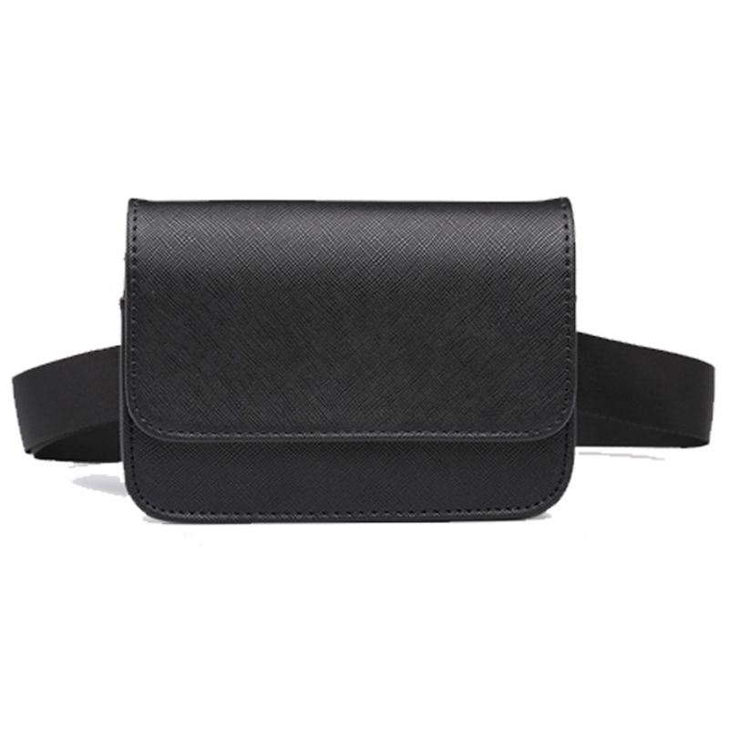Casual Women Waist Bags PU Leather Black Fanny Pack For Women Brief Design Ladies Small Belt Bags Seller Bum Money Bag