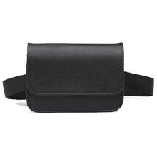 Na co dzień kobiety saszetki na pas PU skóra czarny piterek dla kobiet krótki projekt panie małe torby z paskiem sprzedawca Bum portfel tanie tanio Badiya WP05390 Stałe 110cm Moda Poduszki WOMEN 16cm Waist pack PU Leather