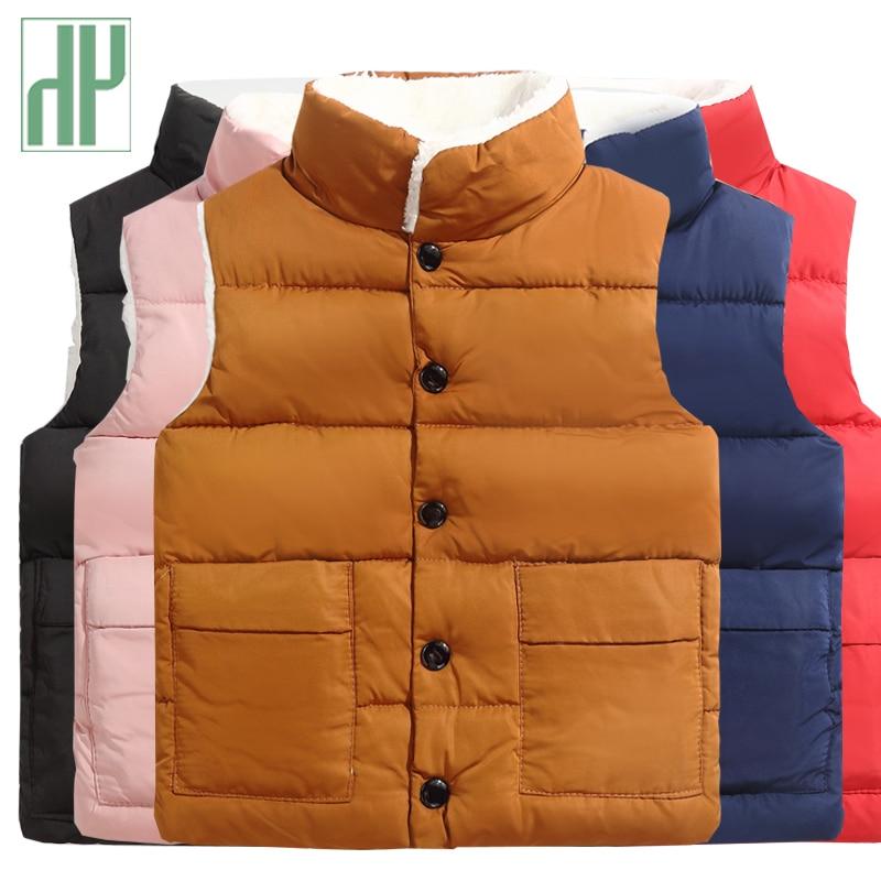 HH Children winter waistcoat toddler boys vest Coats vest for girls infant baby fur vest sleeveless kids fall windbreaker jacket winter 2 12 kids vest baby girls waistcoat 90