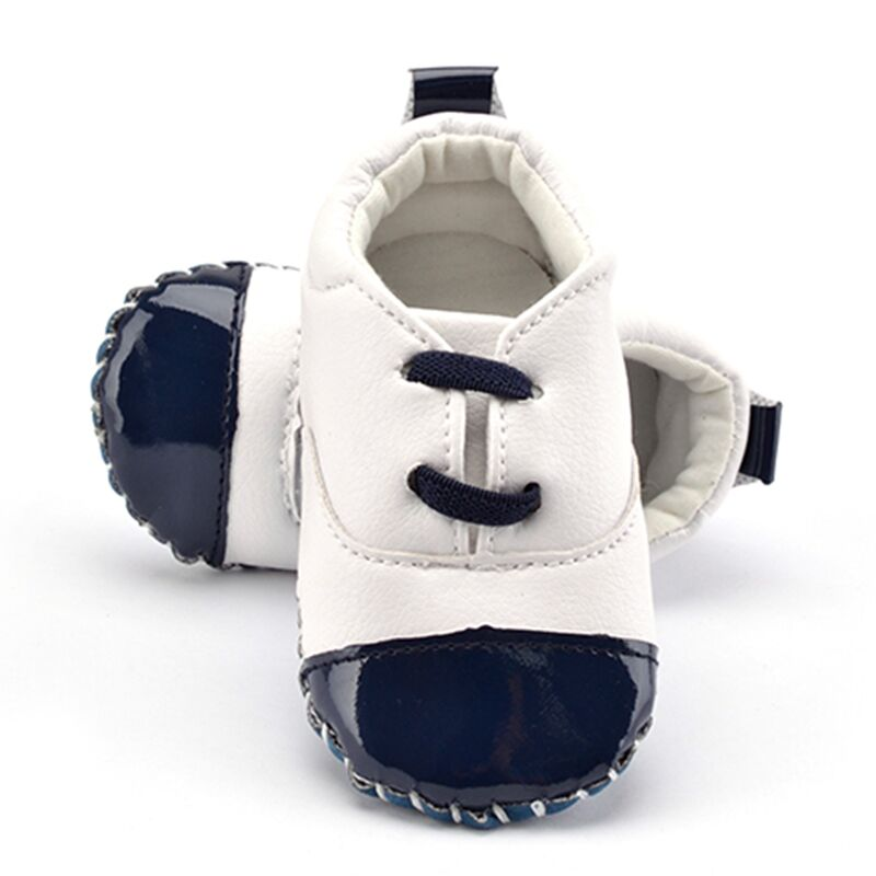 Newborn Baby Shoes Comfortable PU Leather Kids Girl Boy Toddler Crib Shoes T-tied Shallow Soft Anti-skid Casual Shoes delicate hot cute animal newborn girl boy soft sole crib toddler shoes canvas sneaker for 0 12m m22