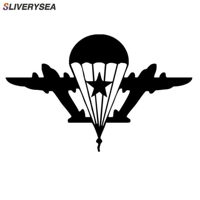 SLIVERYSEA Car Stickers Personality Car Decoration Army Fan Military Russian Airborne Car Sticker Vinyl