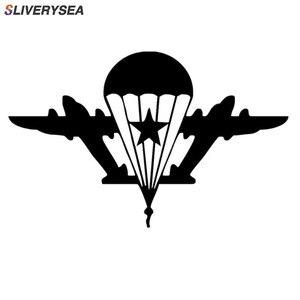 Image 1 - SLIVERYSEA автомобильные наклейки индивидуальные украшения для автомобиля, армия, веер, военный, русский, воздушная, Виниловая наклейка для автомобиля