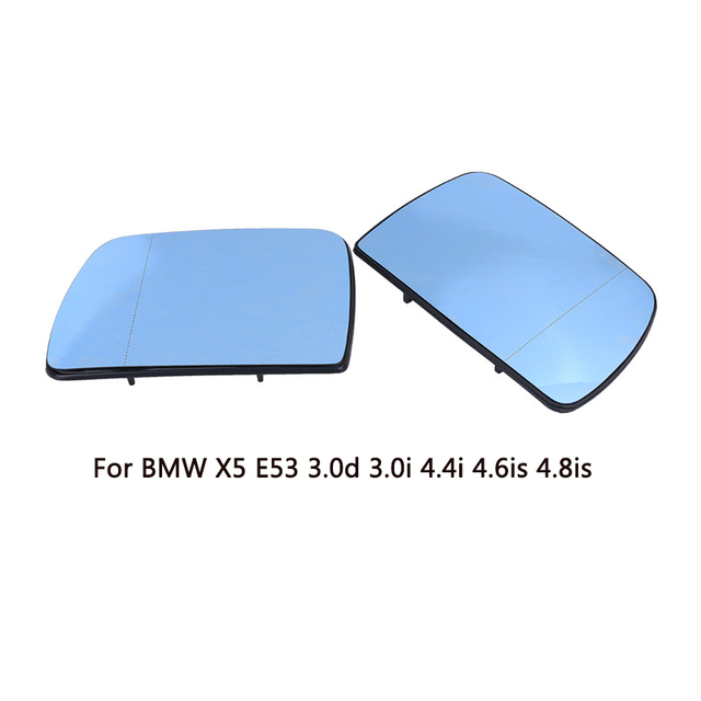 Popular L R Rear View Door Wing Mirror Glass Heated Blue Tinted Mirror For BMW Beautiful - Awesome door glass New Design